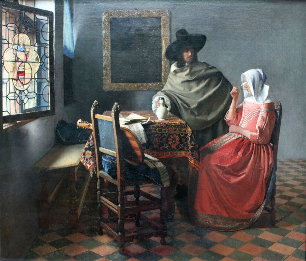 A taça de vinho, de Johannes Vermeer